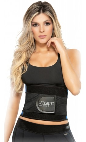 Latex Fit Waist Trimmer Belt zwart