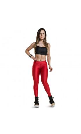 Leggings High Waist Cherry Red